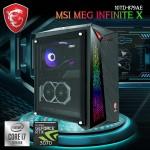 MSI Gaming PC MEG Infinite X Gaming computer 10TD-879AE Intel 10th Gen i7-10700KF Z490 32GB RAM 1TB SSD+2TB HDD RTX 3070 8GB Water Liquid Black Color