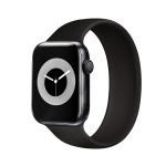 Promate Solo Loop Strap for Apple Watch-44S  Black