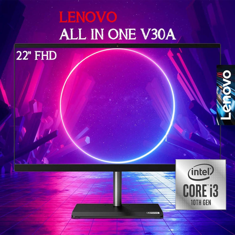 """Lenovo PC All In One V30a (22) Intel Core i3-10110U 4GB Ram 1TB HDD 21.5"""" None Tech DVDRW Dos Eng"""