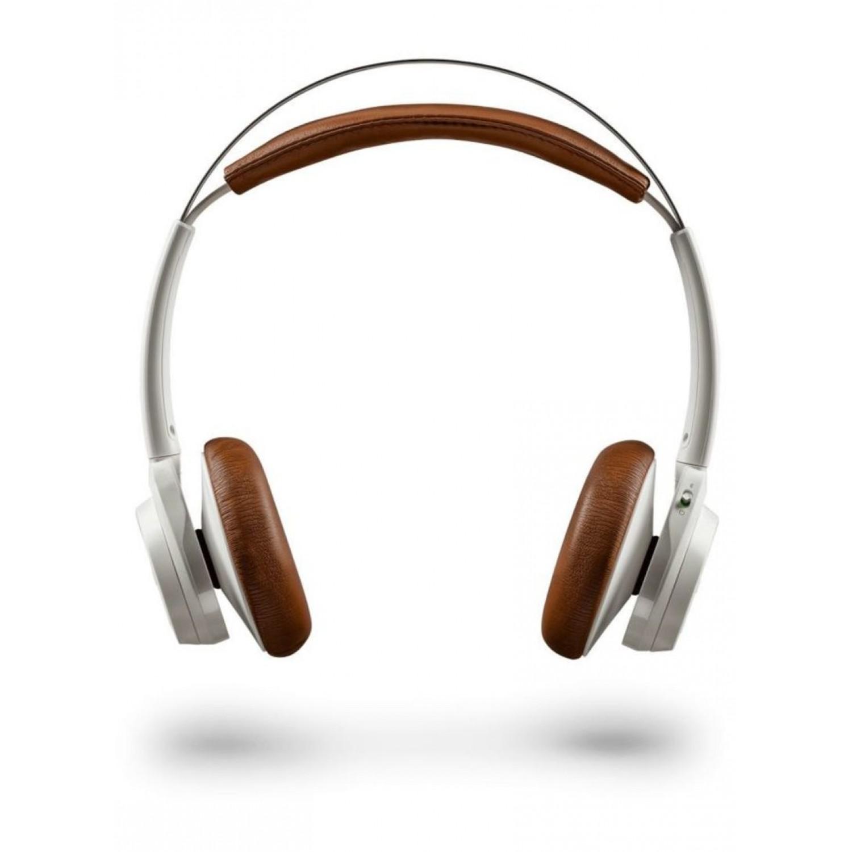 Plantronics Backbeat Sense Wireless Headphone- White/tan