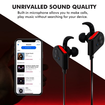 Promate Bluetooth Earphones, Wireless Bluetooth 4.1 Magnetic Earphones with HD Sound Quality Sweatproof, Secure-Fit, Built-In Mic and Noise Isolating for iPhone, iPad, Samsung, Pc, Laptop, Blue