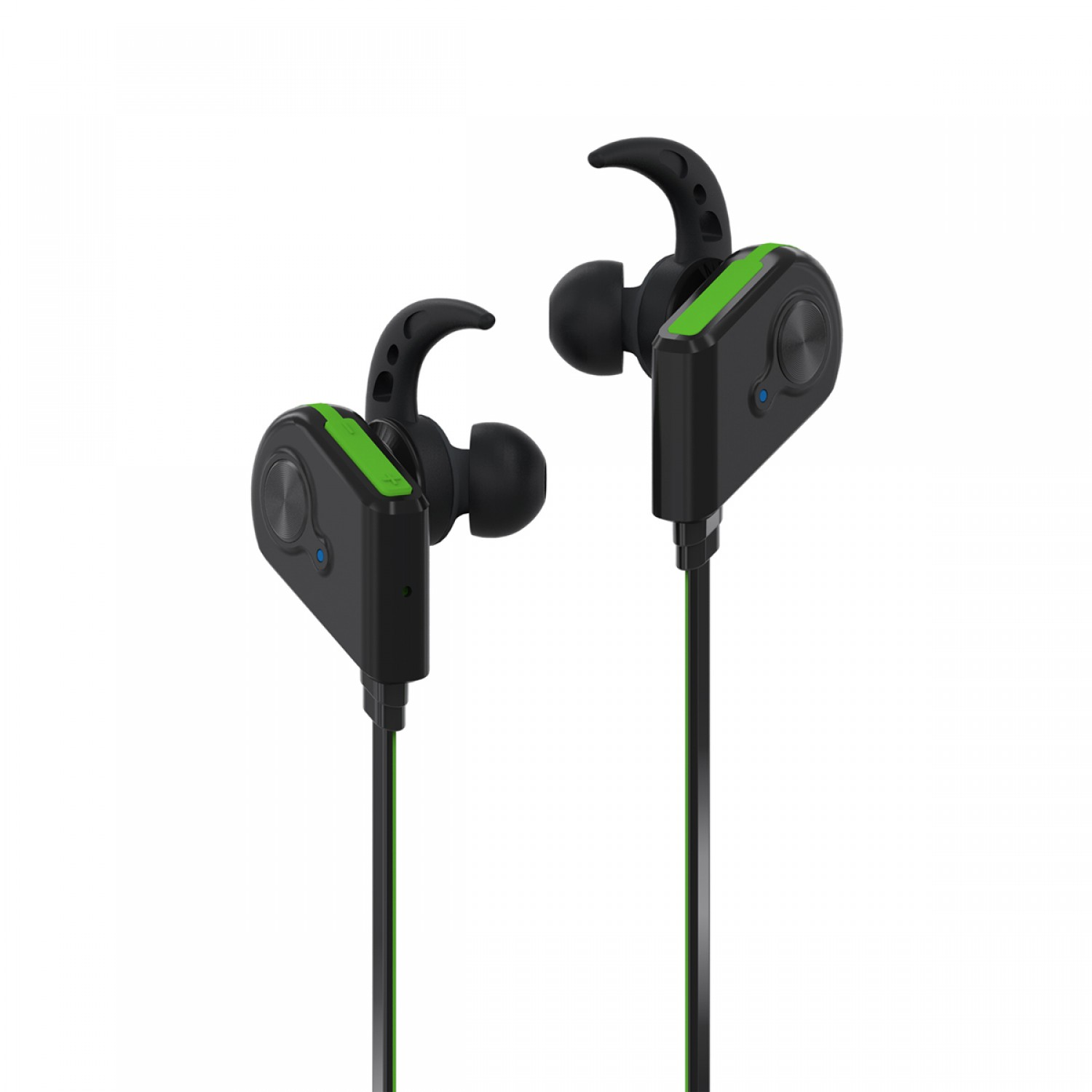 Promate Bluetooth Earphones, Wireless Bluetooth 4.1 Magnetic Earphones with HD Sound Quality Sweatproof, Secure-Fit, Built-In Mic and Noise Isolating for iPhone, iPad, Samsung, Pc, Laptop, Fluid Green