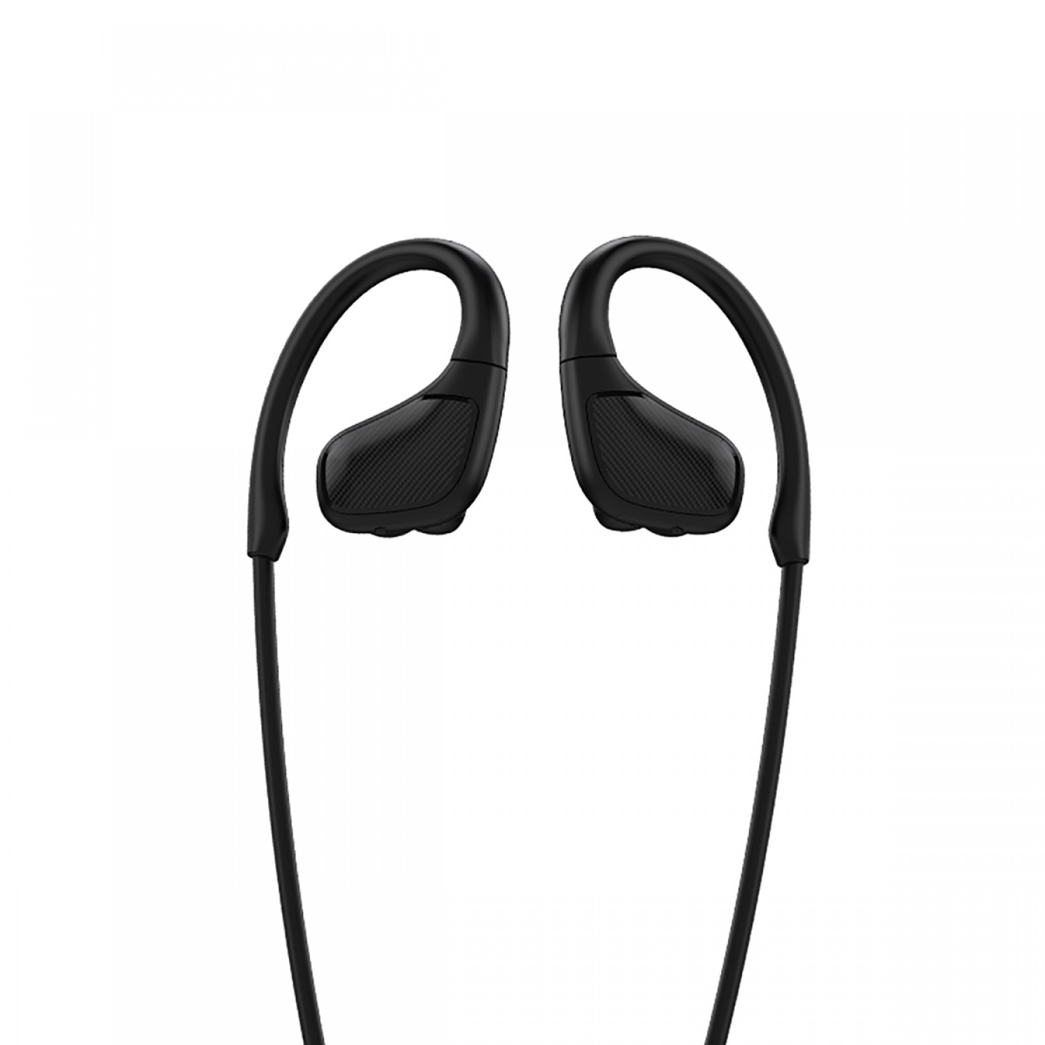 Promate Wireless Headphones, Premium Sweatproof Bluetooth v4.1 Sport Behind-Ear Running Earphones with HD Sound Quality, Noise Cancelling and Built-in Mic for Gym, Smartphones, iPod, Spirit Black