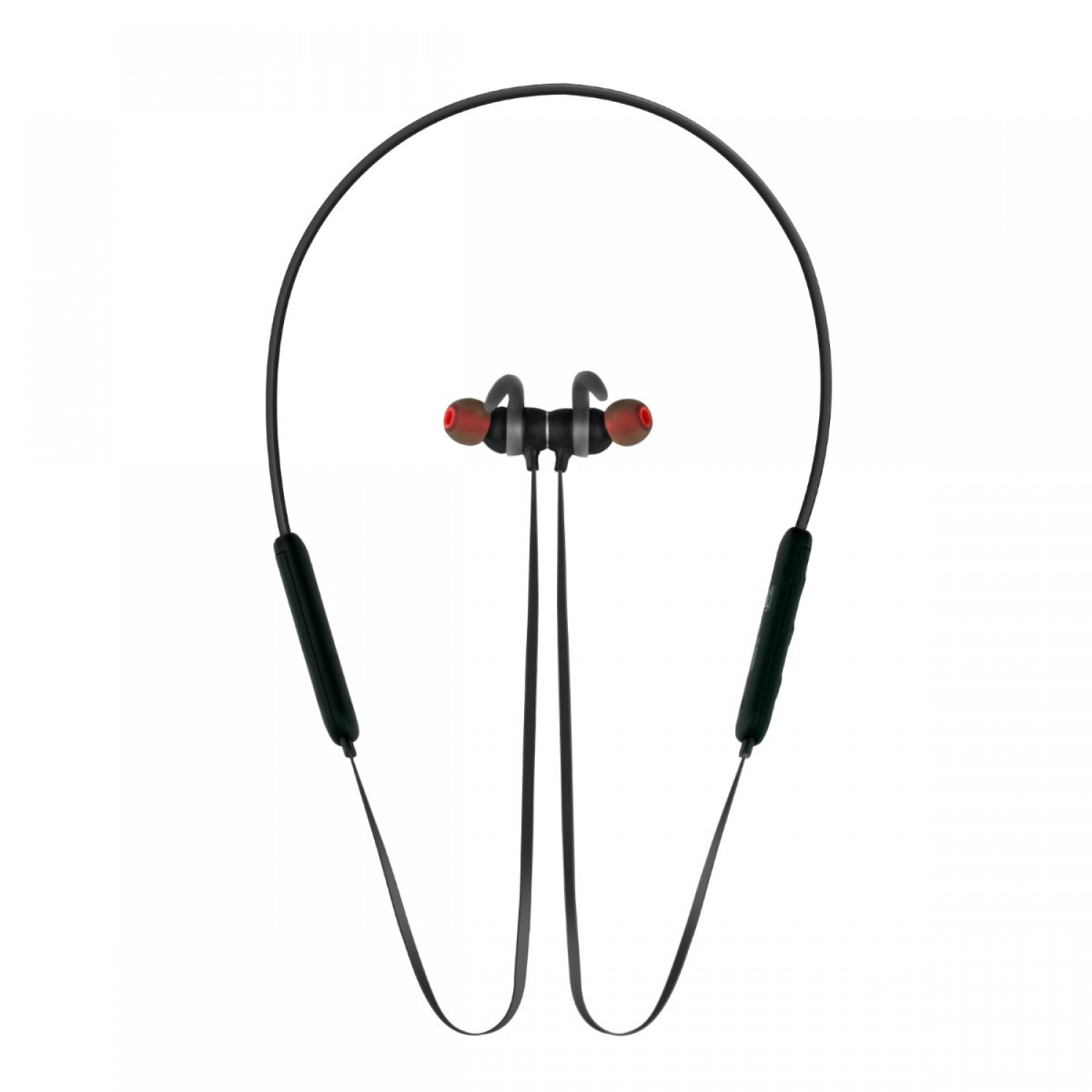Promate Bluetooth Headphone, High Definition Wireless Neckband Headset with Built-In Microphone, Noise Cancelling and Magnetic Earphones for All Bluetooth Enabled Devices Spicy-1 Black