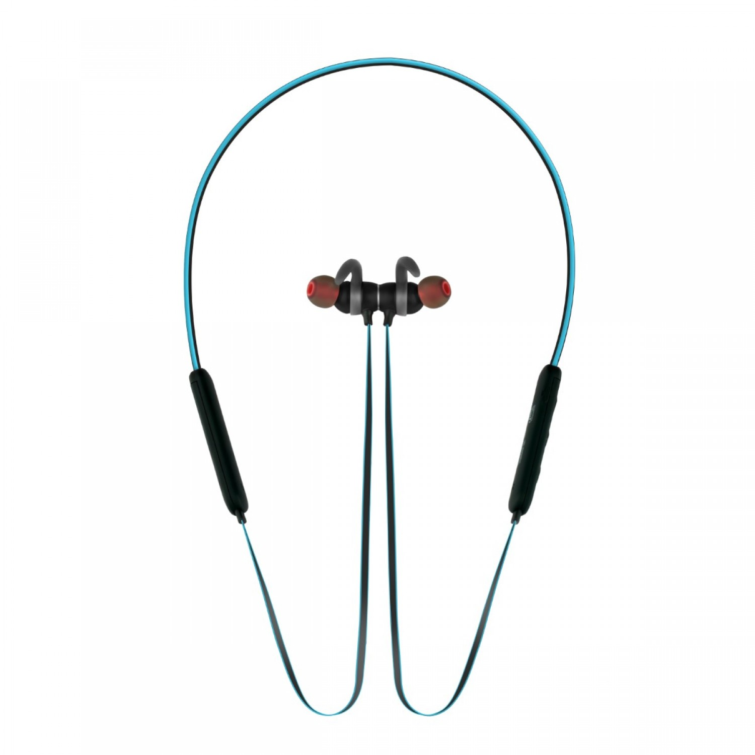 Promate Bluetooth Headphone, High Definition Wireless Neckband Headset with Built-In Microphone, Noise Cancelling and Magnetic Earphones for All Bluetooth Enabled Devices Spicy-1 BLUE