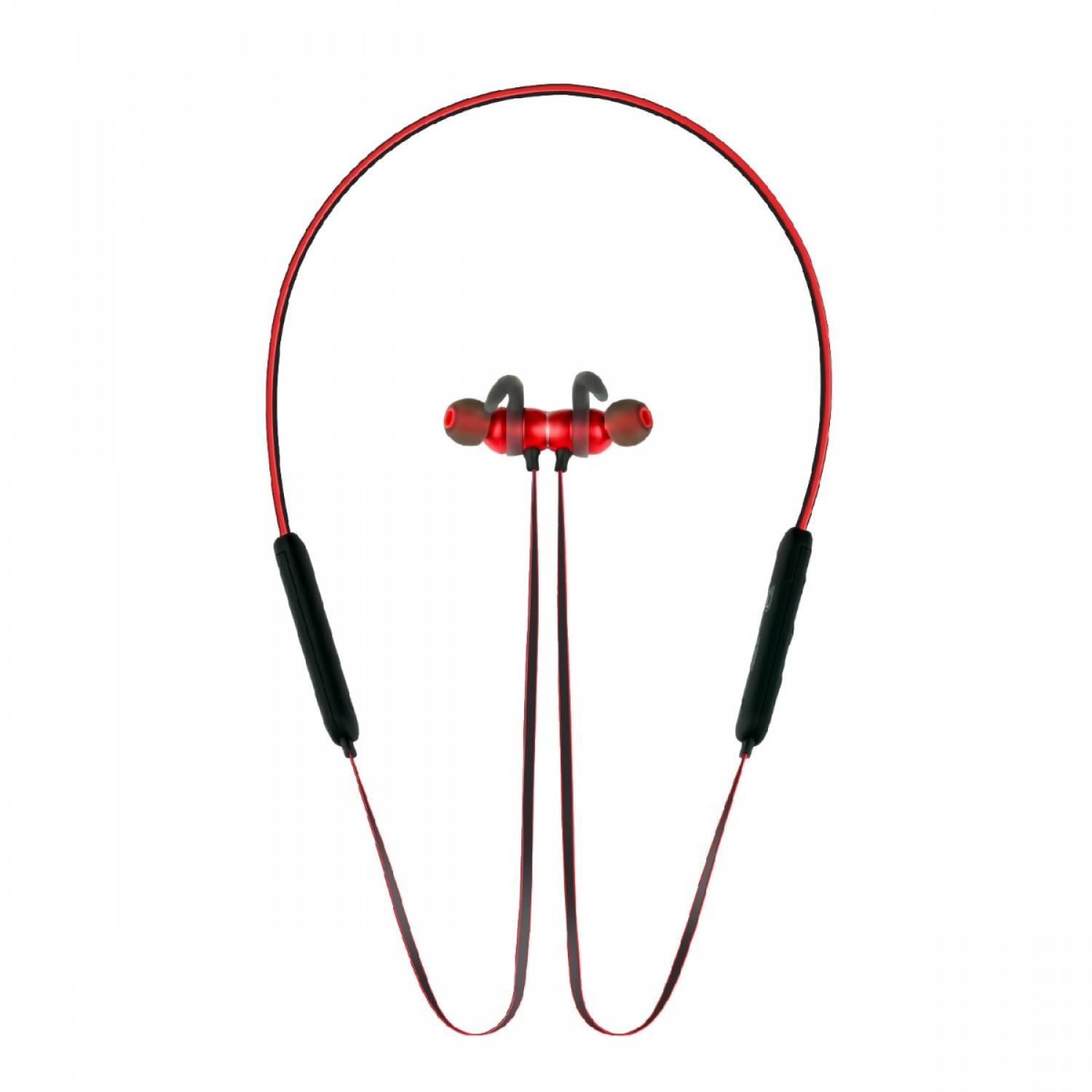 Promate Bluetooth Headphone, High Definition Wireless Neckband Headset with Built-In Microphone, Noise Cancelling and Magnetic Earphones for All Bluetooth Enabled Devices Spicy-1 Red