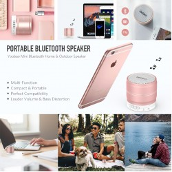 Yoobao YB L001 Hi-Fi Bluetooth Speaker Rose Gold