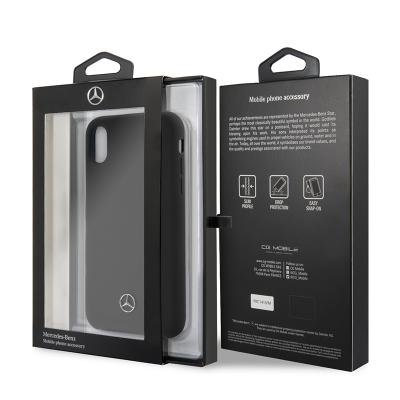 iPhone X/XS Mercedes Benz Liquid Silicon Black