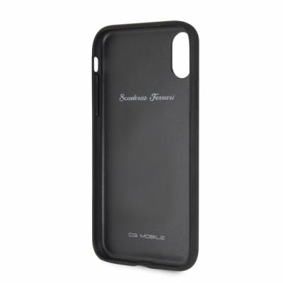 iPhone Xr Ferrari Heritage Hard Case -  W Vertical Contrasted Stripe Black