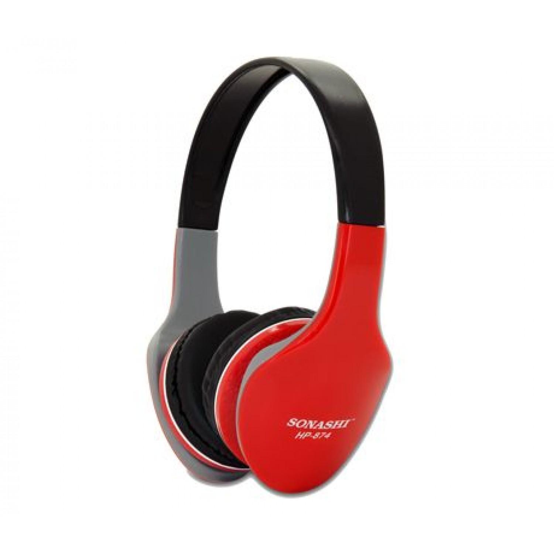Sonashi HP-874  Wired Headphone (Black & Red)