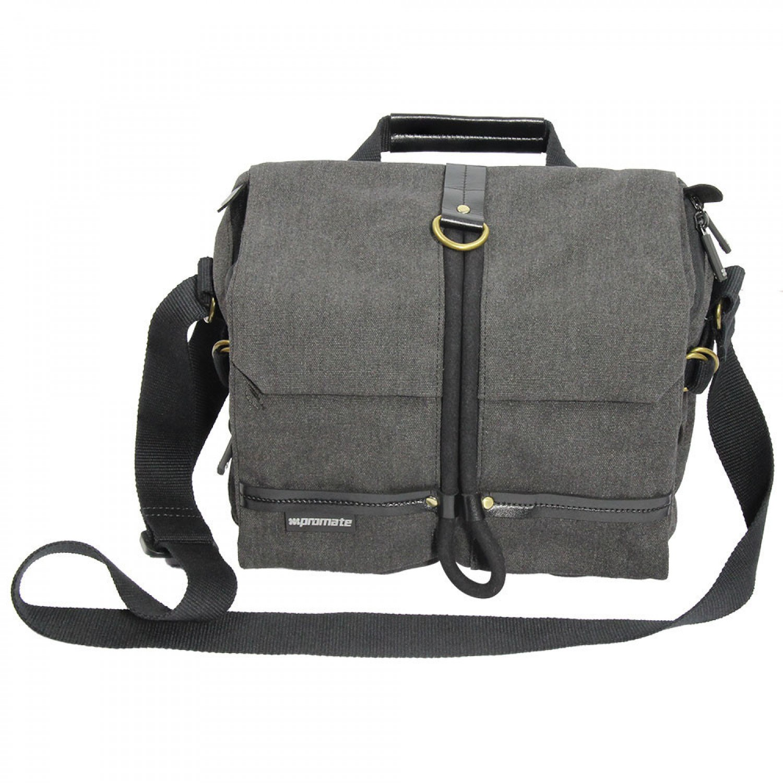 Promate DSLR Camera Bag, DSLR Digital Camera Bag Messenger Shoulder Case with Tablet Pocket and Water resistance Cover for Canon/Nikon/Sony DSLR – Xplore-M