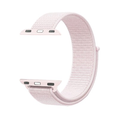 Promate Sports Loop Band for Apple Watch 38mm/40mm, Premium Nylon Weave Mesh Band with Dense Loop and Adjustable Wrist Strap for Apple Watch Series 1,2,3 and 4, Workout, Fitness, Running, Fibro-38 Light Pink