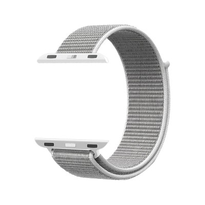 Promate Sports Loop Band for Apple Watch 38mm/40mm, Premium Nylon Weave Mesh Band with Dense Loop and Adjustable Wrist Strap for Apple Watch Series 1,2,3 and 4, Workout, Fitness, Running, Fibro-38 White