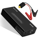 Promate Car Jump Starter, Multifunctional 450A Peak Portable Car Jump starter with 11100mAh Battery Pack with Dual USB Port and LED Flash Light, Patrol-2