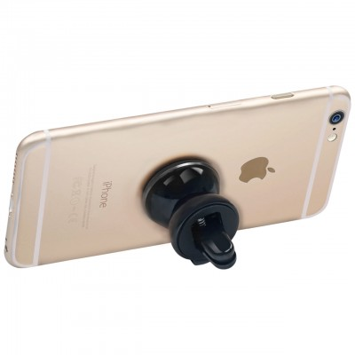 Promate VentGrip Anti-Slip Magnetic Car AC Vent Universal Mobile Holder - Black