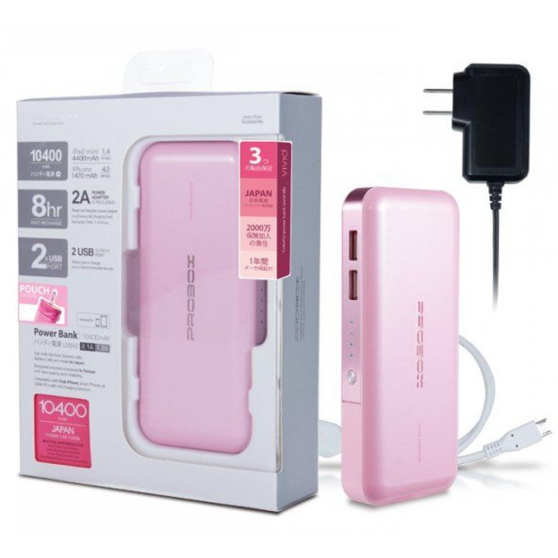 Probox Portable Powerbank, HE3-10KU2-PR 10400mAh
