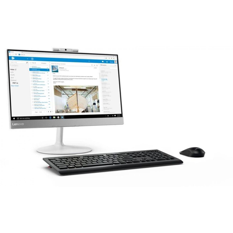 """Lenovo All In One V410z AIO, Intel Core i5-7400T, 4GB Ram, 500GB, DOS, 21.5"""" - White"""