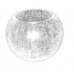 Crack Glass Design Bowl For Multipurpose Home Decoration- single pc