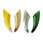Horn Design Flower Glass Vase- two  pcs