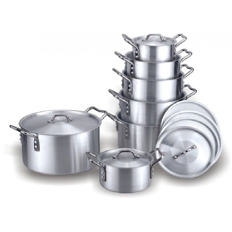 Antique 14 Pieces Alum Cookware