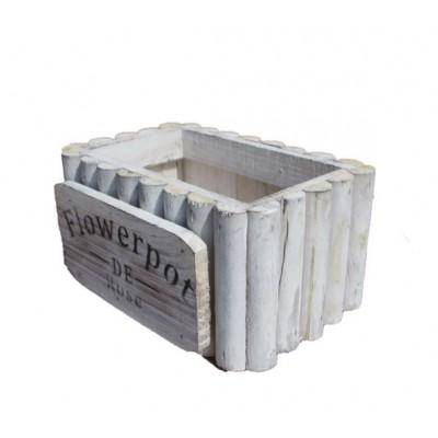 Wooden Square pot- single pc