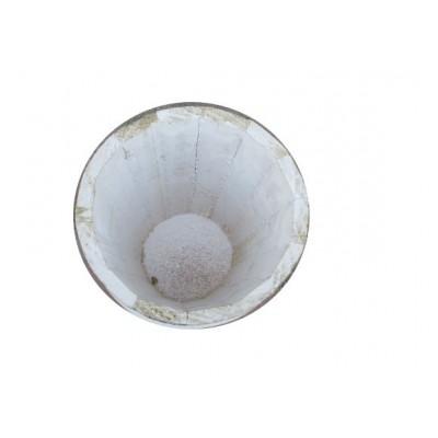 Wooden Round flower pot 13 H x 14L- single pc