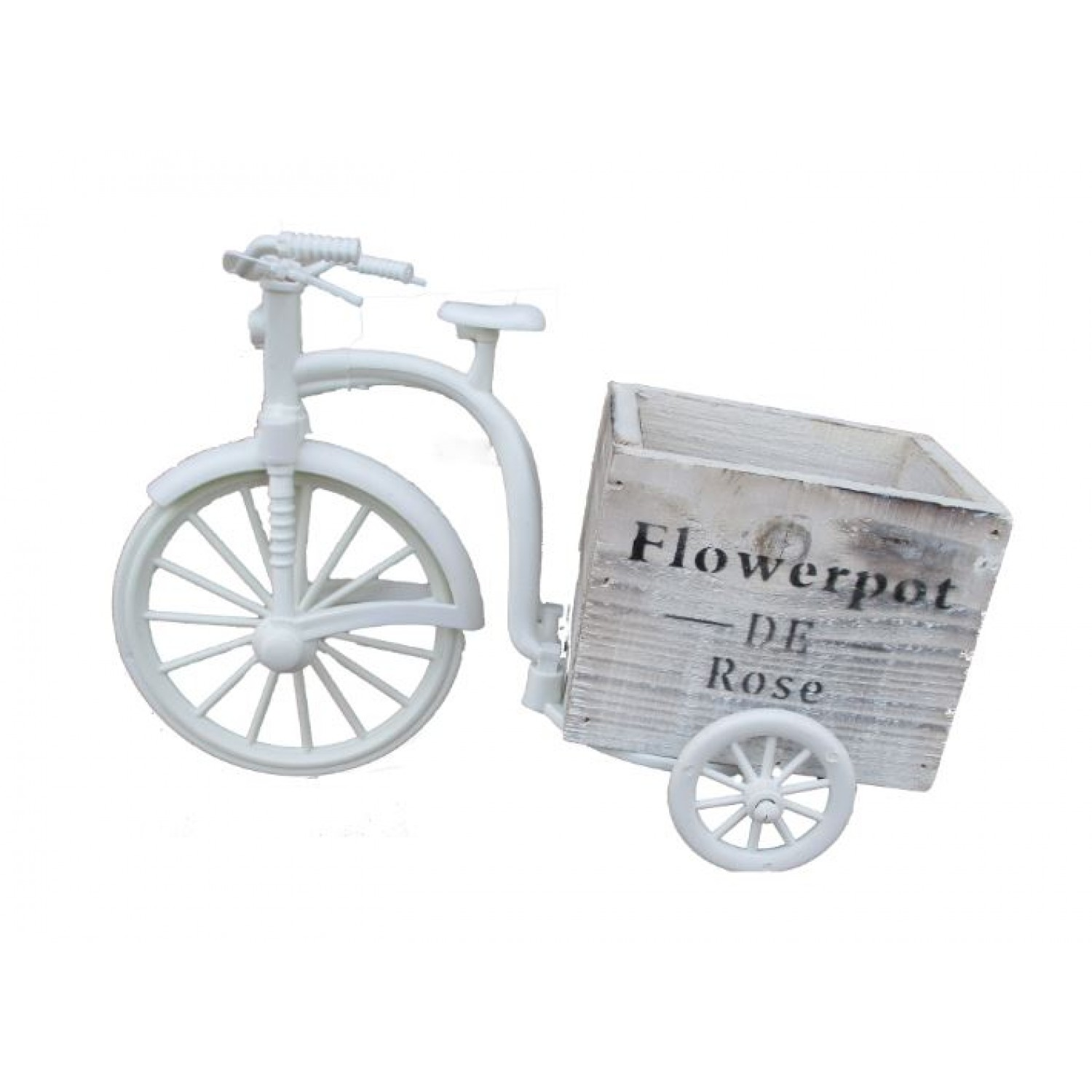 Wooden TriCycle  flower stand 26 L X 17.5 H x 13 W- single pc