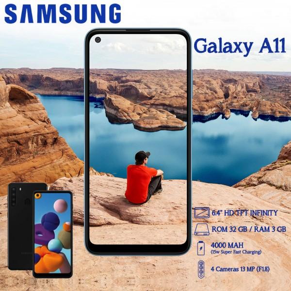 Samsung Galaxy A11 Dual SIM - 32GB, 2GB RAM, 4G LTE  13MP + 5MP + 2MP