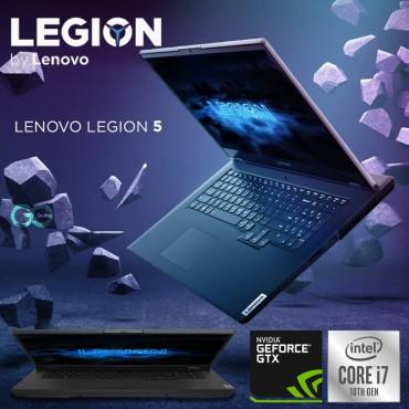 "Lenovo Legion 5 15IMH05H Intel Core i7-10750H (6C / 12T, 2.6 / 5.0GHz, 12MB) 8GB 512GB SSD NVIDIA GTX 1660 Ti 6GB GDDR6 15.6"" FHD, 4-Zone RGB, En Keyboard Phantom Black Windows 10 H"