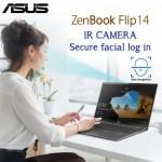 Asus ZenBook Flip laptop UX463 Ultra Slim Convertible Intel 10th Gen i7-10510 16GB 512GBSSD 14'' Full HD Multi Touch Illuminated Chicklet UK English Keyboard IR HD Camera with facial login Gun Grey Color